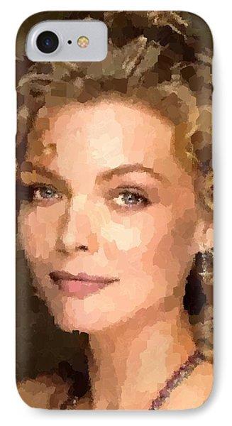 Michelle Pfeiffer Portrait IPhone Case