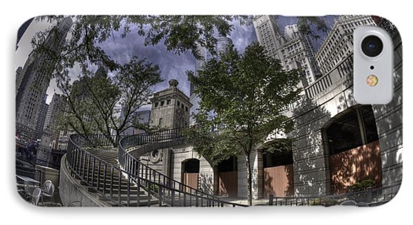 Michigan Avenue Stairs IPhone Case by David Bearden