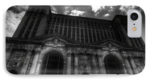 Michigan Central Station Highrise IPhone Case by Jonathan Davison