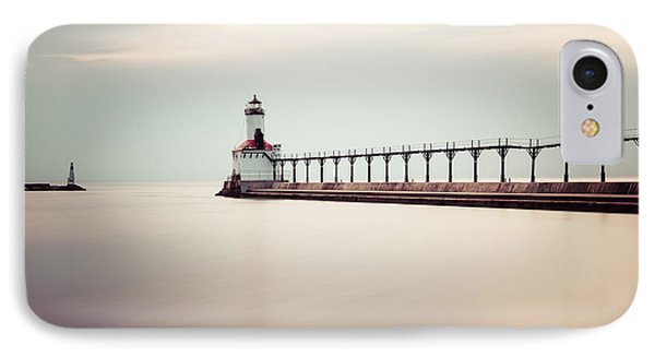 Michigan City Lighthouse Picture IPhone Case by Paul Velgos
