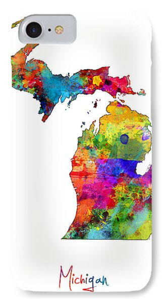 Michigan Map IPhone Case