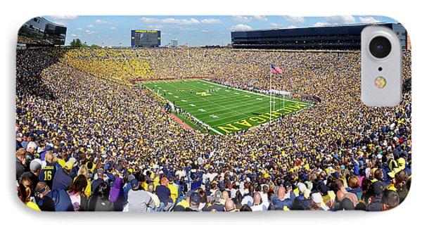 University Of Michigan iPhone 7 Case - Michigan Stadium - Wolverines by Georgia Fowler