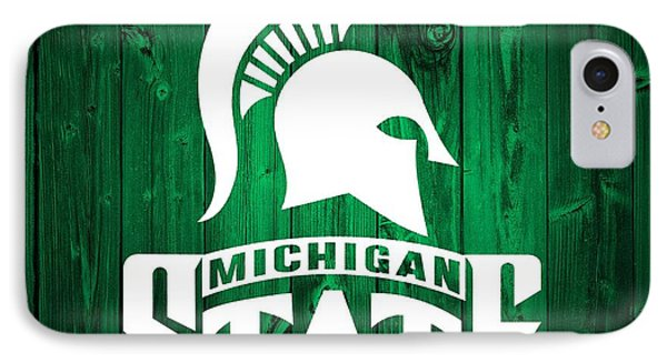 Michigan State Barn Door IPhone Case by Dan Sproul