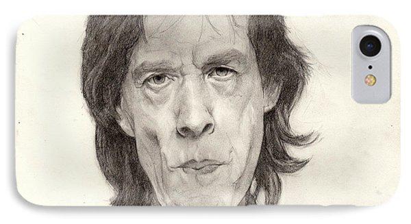 Mick Jagger 2 IPhone Case by Glenn Daniels