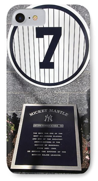 Mickey Mantle IPhone Case by Allen Beatty