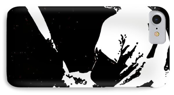 Mickey Mantle Drawing IPhone Case by Rob Monte