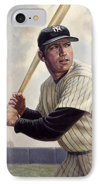 Mickey Mantle IPhone Case by Gregory Perillo