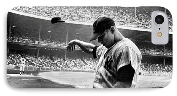 Mickey Mantle IPhone 7 Case by Gianfranco Weiss