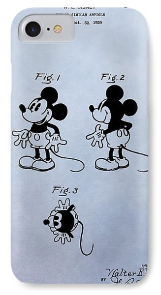 Mickey Mouse Patent IPhone Case by Dan Sproul