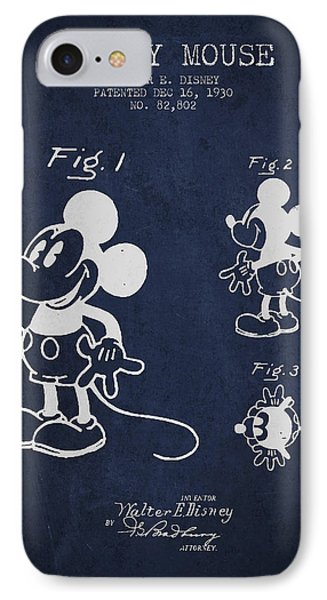 Mickey Mouse Patent Drawing From 1930 IPhone Case by Aged Pixel