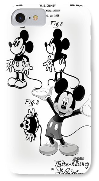 Mickey Patent Poster IPhone Case by Dan Sproul