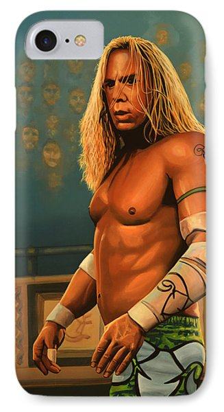 Mickey Rourke IPhone Case by Paul Meijering