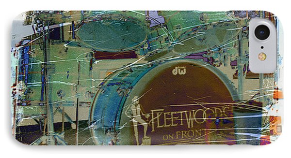 Mick's Drums Phone Case by Paulette B Wright