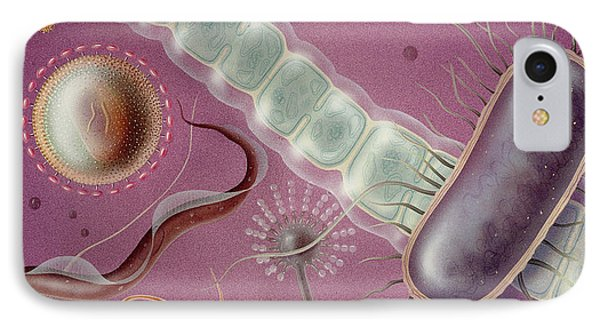 Microbes Phone Case by Carlyn Iverson