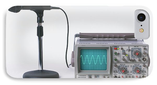 Microphone Connected To Oscilloscope IPhone Case
