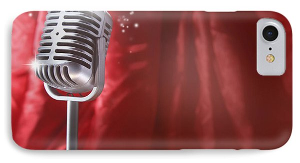 Microphone IPhone Case by Les Cunliffe