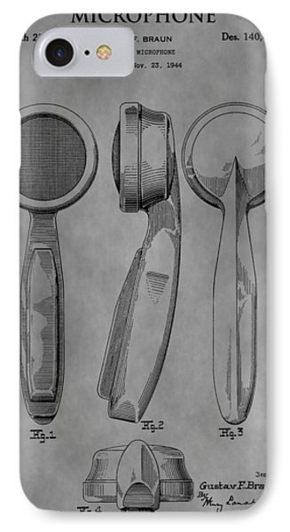 Microphone Patent IPhone Case by Dan Sproul