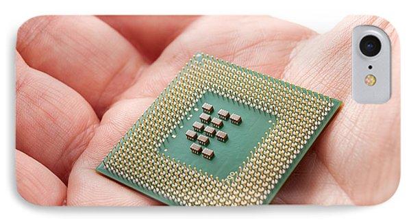 Microprocessor Phone Case by Sinisa Botas