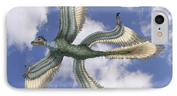 Microraptor Phone Case by Spencer Sutton