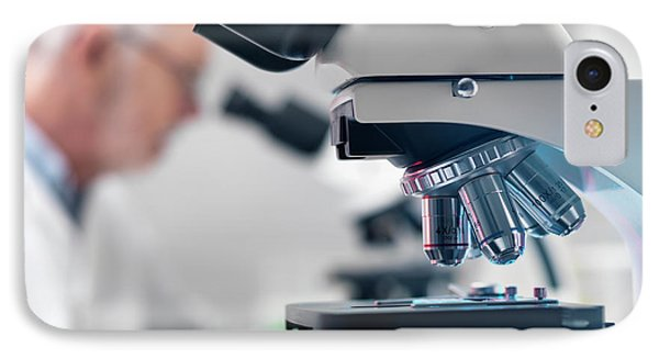 Microscope Laboratory IPhone Case by Tek Image