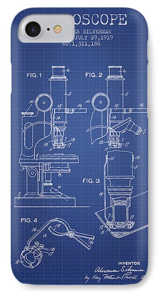 Microscope Patent From 1919 - Blueprint IPhone Case by Aged Pixel