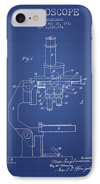 Microscope Patent From 1931 - Blueprint IPhone Case by Aged Pixel