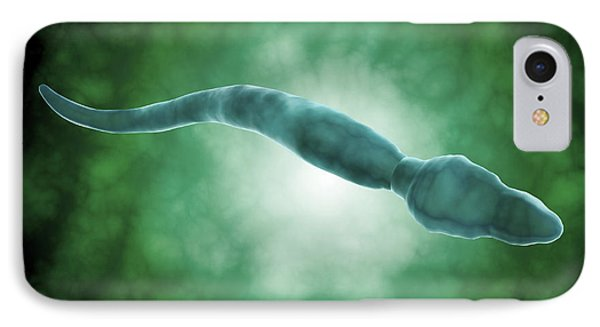 Microscopic View Of A Single Male Sperm Phone Case by Stocktrek Images