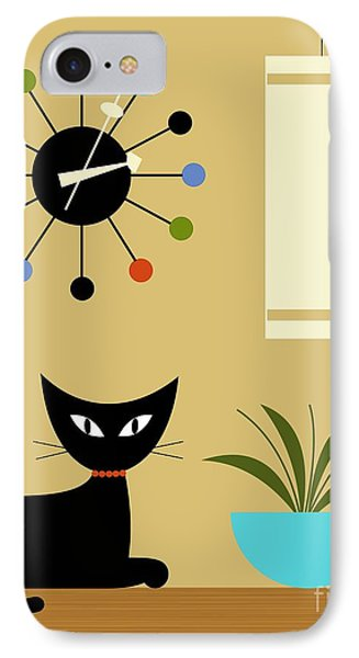 Mid Century Ball Clock 2 IPhone Case by Donna Mibus