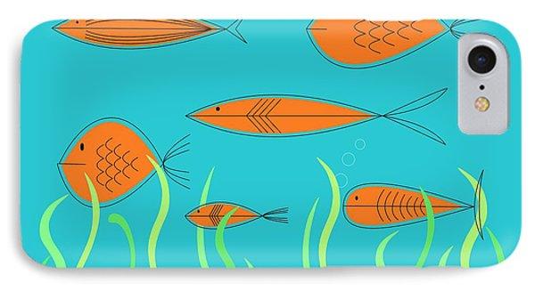Mid Century Fish 2 IPhone Case