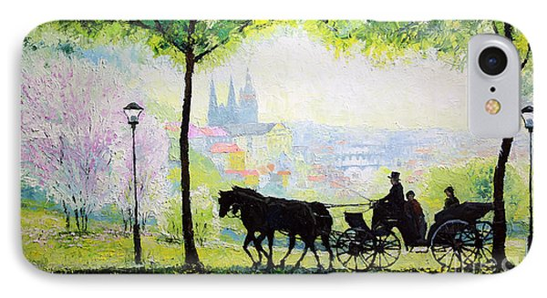 Midday Walk In The Petrin Gardens Prague IPhone Case by Yuriy Shevchuk