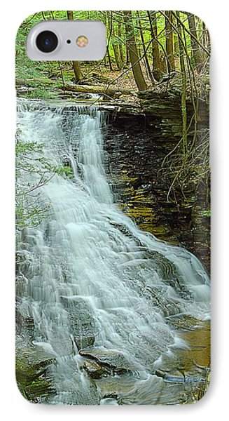 Middle Branch Falls Upper Tier #1 IPhone Case