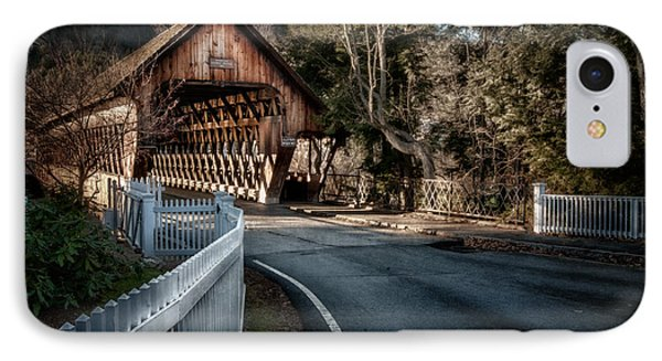 Middle Bridge - Woodstock Vermont IPhone Case by Thomas Schoeller
