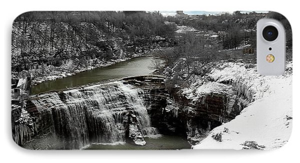 Middle Falls Rochester Ny IPhone Case by Richard Engelbrecht