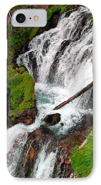 Middle Of Red Blanket Falls Phone Case by Teri Schuster