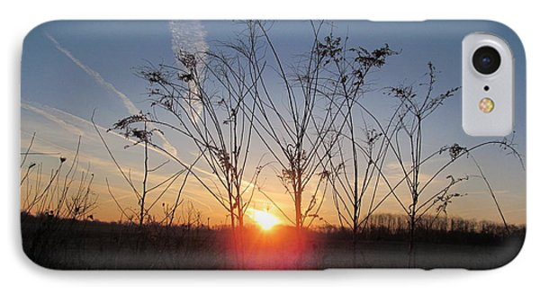 Middle Of The Field Sunrise IPhone Case by Tina M Wenger