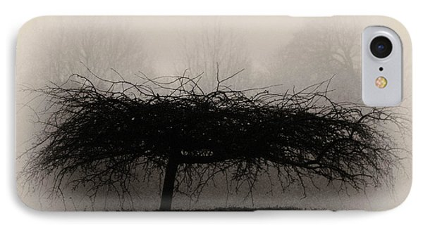Middlethorpe Tree In Fog Sepia - Award Winning Photograph IPhone Case