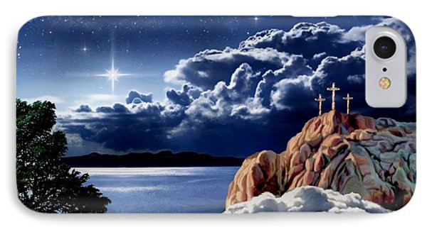 Midnight At Calvary IPhone Case by Ron Chambers
