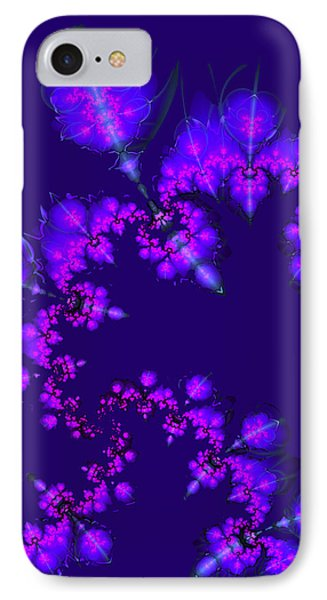 IPhone Case featuring the digital art Midnight Blossoms by Judi Suni Hall