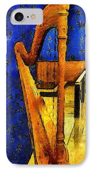 Midnight Harp Phone Case by RC DeWinter