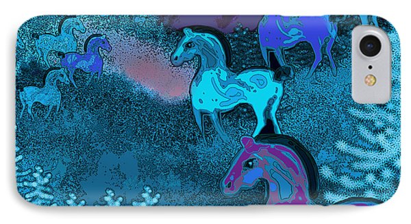 Midnight Horses IPhone Case by Carol Jacobs