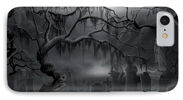 Midnight In The Graveyard  Phone Case by James Christopher Hill