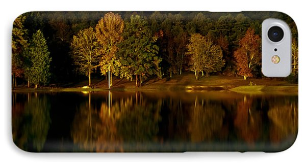 Midnight On The Lake IPhone Case by Linda Unger