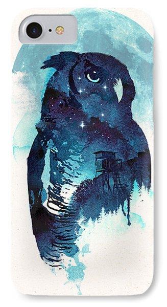 Midnight Owl IPhone Case by Robert Farkas