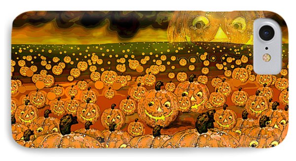 Midnight Pumpkin Patch IPhone Case by Carol Jacobs
