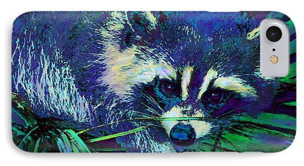 Midnight Racoon IPhone Case by Jane Schnetlage