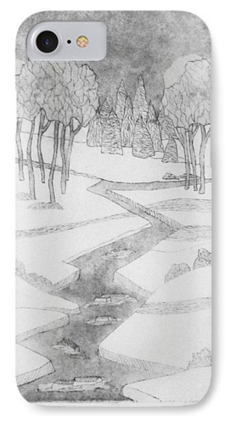 Midnight River Ice IPhone Case by Jackie Locantore