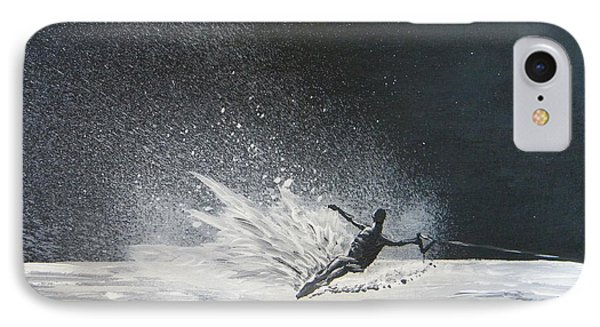 Midnight Ski IPhone Case by Eric Johansen