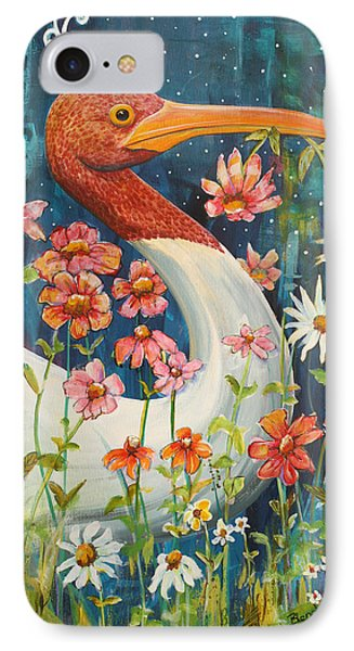 Midnight Stork Walk IPhone Case by Blenda Studio