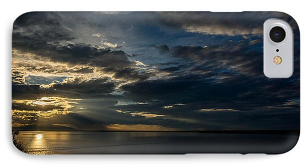 Midnight Sun Over Cook Inlet IPhone Case