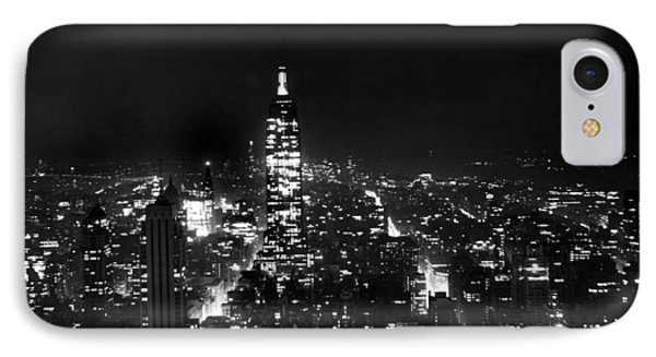 Midtown Manhattan At Night IPhone Case by Underwood Archives